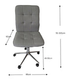 Oslo light grey fabric gas lift office chair - OZZIEBARGAINS