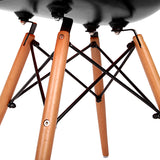 Set of 4 Replica Eames Eiffel Dining Chairs Black - OZZIEBARGAINS