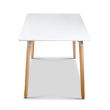 Rectangular 6 Seater Dining Table White - OZZIEBARGAINS