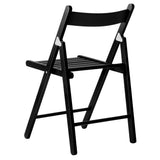 Set of 4 Delia Wooden Chair Black - OZZIEBARGAINS