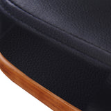 PU Leather Wooden Bar Stool Black