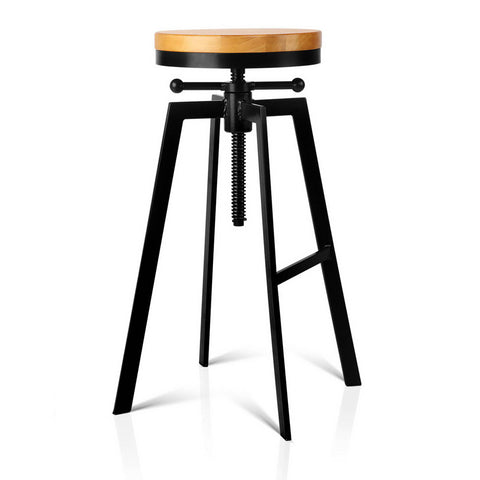 Adjustable Height Industrial Stool - OZZIEBARGAINS