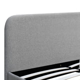 Double Polyester Fabric Bed Frame Grey - OZZIEBARGAINS