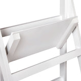 Wooden Ladder Storage Display Shelf - White