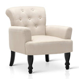 Wing Armchair French Provincial Fabric Taupe