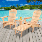 Adirondack Chairs and Ottoman Set - OZZIEBARGAINS