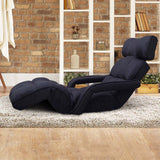 Adjustable Lounger with Arms – Black - OZZIEBARGAINS