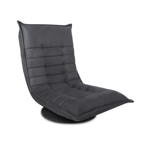 Swivel Foldable Floor Chair - Charcoal