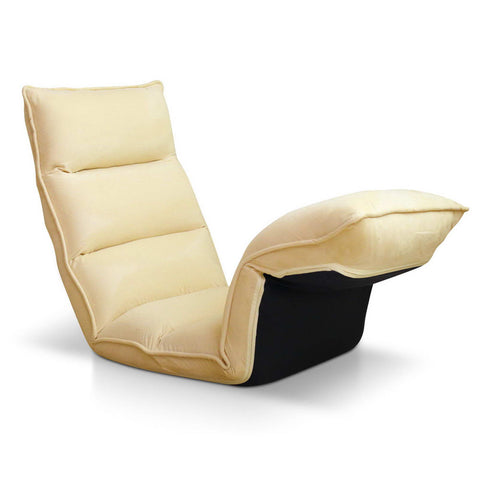 Lounge Sofa Chair - 375 Adjustable Angles – Taupe - OZZIEBARGAINS