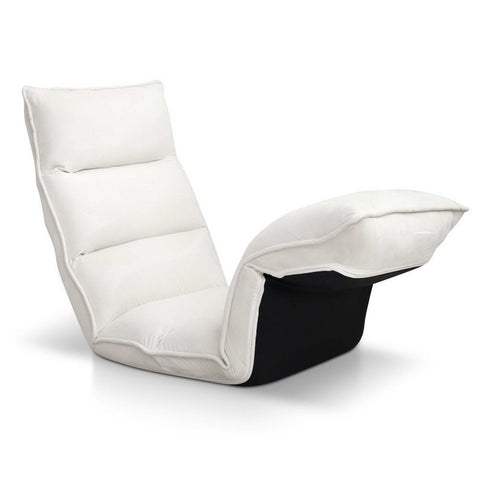Lounge Sofa Chair - 375 Adjustable Angles - Ivory - OZZIEBARGAINS