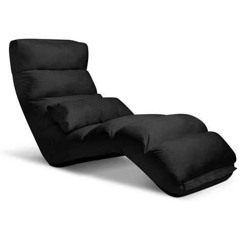 Lounge Sofa Chair - 75 Adjustable Angles – Black - OZZIEBARGAINS