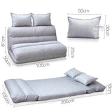 Adjustable Lounge Sofa - 5 positions Grey - OZZIEBARGAINS