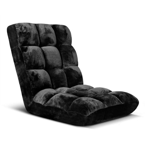 Adjustable Lounge Chair Black - OZZIEBARGAINS