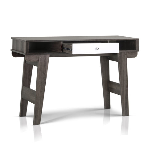 Console Table with Drawers Dark Grey and White - OZZIEBARGAINS