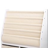 4 Tier Wooden Kids Bookshelf - White - OZZIEBARGAINS