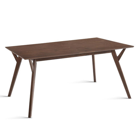 4 Seater Wood Timber Dining Table Walnut - OZZIEBARGAINS
