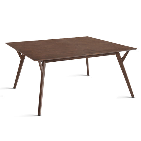 6 Seater Wood Timber Dining Table Walnut - OZZIEBARGAINS