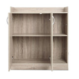 2 Doors Shoe Cabinet Storage Cupboard Wooden - OZZIEBARGAINS