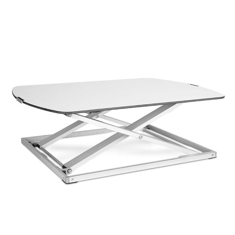 Height Adjustable Standing Desk - White - OZZIEBARGAINS
