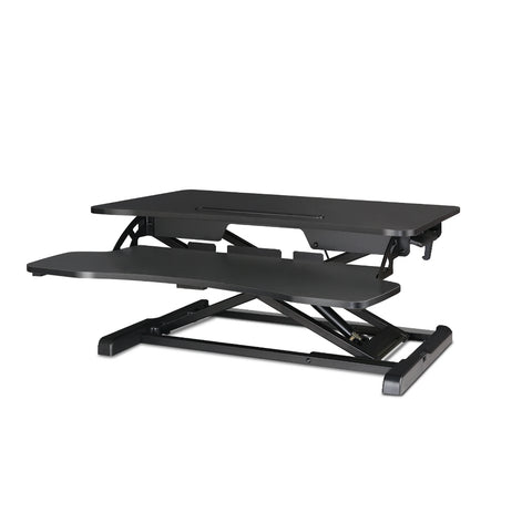 Height Adjustable Standing Desk Riser - Black - OZZIEBARGAINS