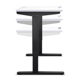 140CM Motorised Height Adjustable Desk Frame White - OZZIEBARGAINS