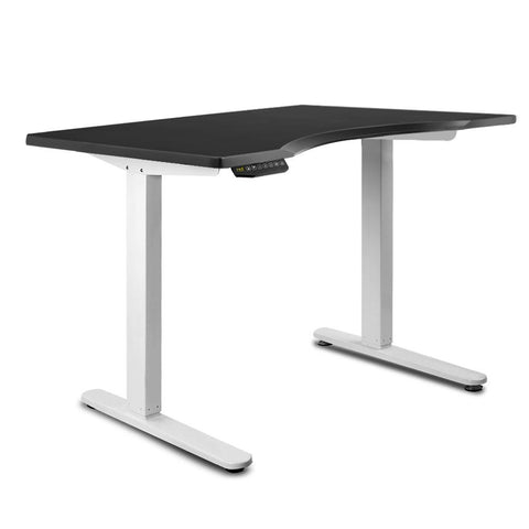 140CM Motorised Height Adjustable Desk Frame Black - OZZIEBARGAINS