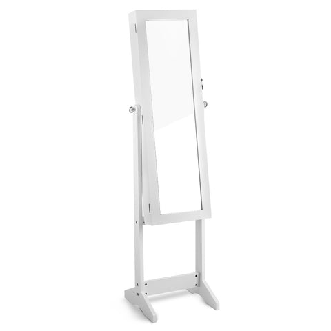 Mirror Jewellery Cabinet Storage 110cm White