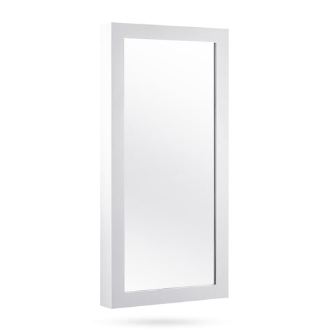 Wall Mount Jewellery Cabinet w/ Mirror White