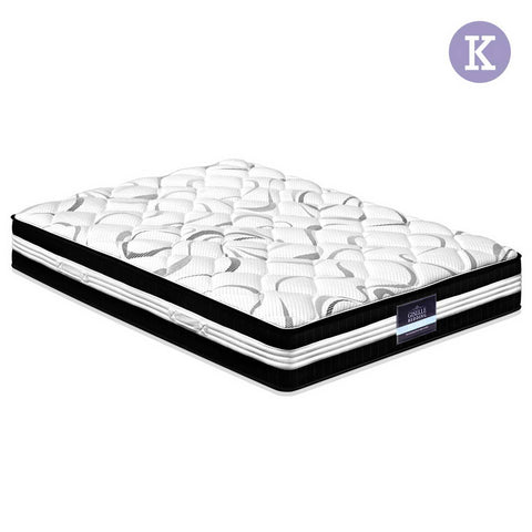 30CM Medium Firm Pocket Spring Mattress - King - OZZIEBARGAINS