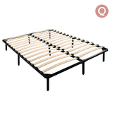 Queen Metal Bed Base Frame Black