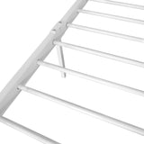 Double Metal Bed Frame White - OZZIEBARGAINS