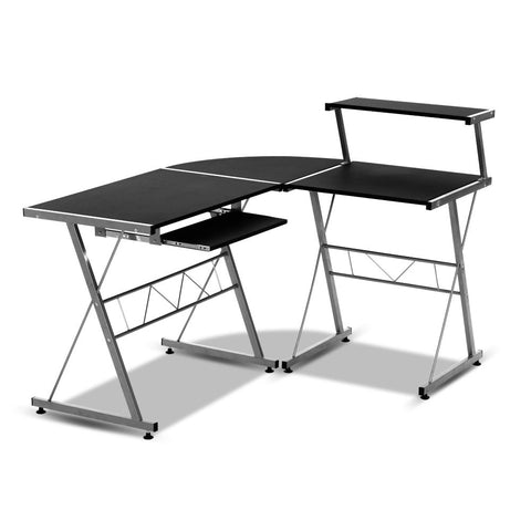 Three-piece Computer Desk Black