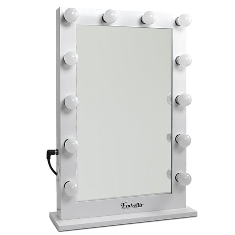 Make Up Mirror Frame with LED Lights 65x50cm White