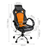Racing Style PU Leather Office Chair Orange