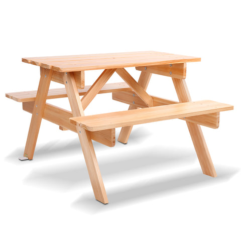 Kids Wooden Picnic Bench Set