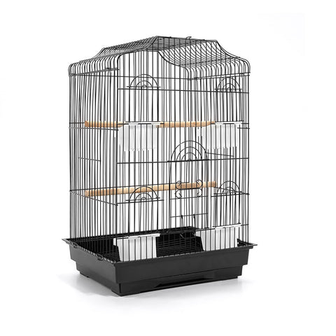 Pet Bird Cage Black Medium - 68CM