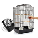 Pet Bird Cage Black Medium - 68CM - OZZIEBARGAINS