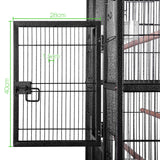 Pet Bird Cage with Stainless Steel Feeders 160cm - OZZIEBARGAINS