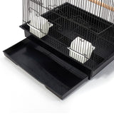 Pet Bird Cage Black Medium - 88CM - OZZIEBARGAINS
