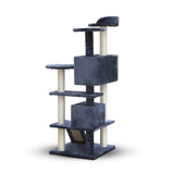 Cat Scratching Post  Tree House Condo 134cm Grey - OZZIEBARGAINS