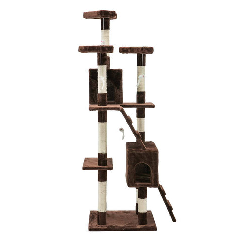 Cat Tree 180cm Brown