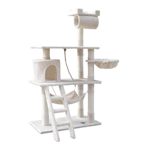 Cat Scratching Post  Tree House Condo 141cm Beige