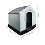 Grey Dog Kennel  – 99CM - OZZIEBARGAINS