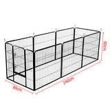 8 Panels Pet Dog Exercise Playpen 80CM - OZZIEBARGAINS