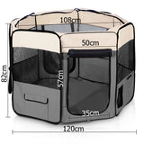 Pet Dog Puppy Cat Exercise Playpen Crate Cage Tent Grey - OZZIEBARGAINS
