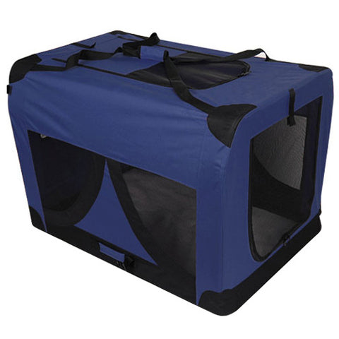 Extra Large Portable Soft Pet Dog Crate Cage Kennel Blue - OZZIEBARGAINS