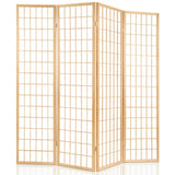 Room Divider 6 Panel - Natural - OZZIEBARGAINS