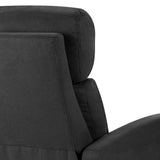 Linen Fabric Reclining Arm Chair - Black