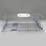 Set of 2 Humane Animal Trap Cage 66 x 23 x 25cm Silver - OZZIEBARGAINS