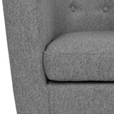Fabric Dining Armchair Grey - OZZIEBARGAINS